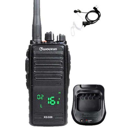Wouxun KG-D26 IP67 Digitale PMR446 Portofoon met tafellader en beveiligingsoortje