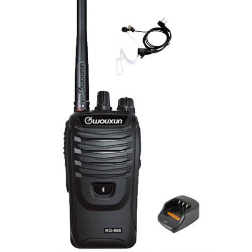 Wouxun KG-968 UHF portofoons IP66 10Watt met beveiliging oortje