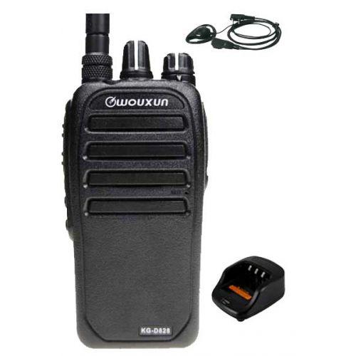 Wouxun KG-D828 Dualband DMR portofoons met D-shape oortje