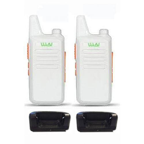 Set van 2 WLN KD-C1 Wit Dunne UHF mini Portofoon 5Watt