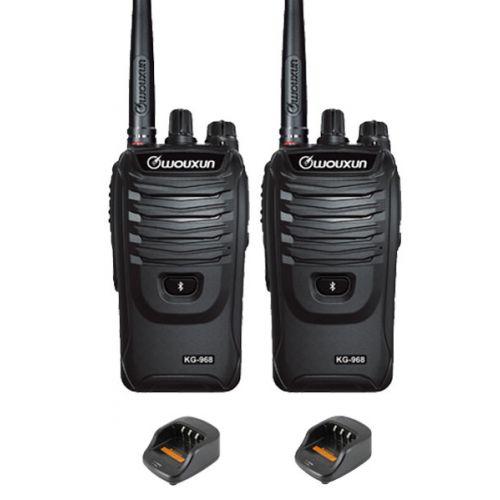 Set van 2 Wouxun KG-968 UHF portofoons IP66 10Watt met Bluetooth