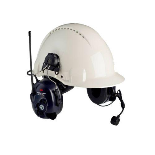 3M Peltor LiteCom Plus PMR446 helmbevestiging headset met geïntegreerde portofoon