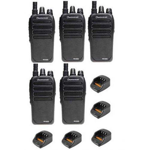 Set van 5 Wouxun KG-D828 Dualband DMR Tier2 portofoons 5Watt IP55