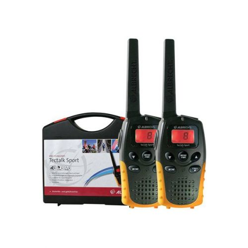 Albrecht Tectalk Sport set PMR446 walkie talkies in koffer