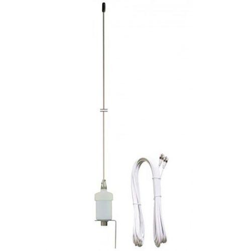 Albrecht Marine 3200 VHF Marifoon antenne 1,0m 3db mast montage met 18m kabel
