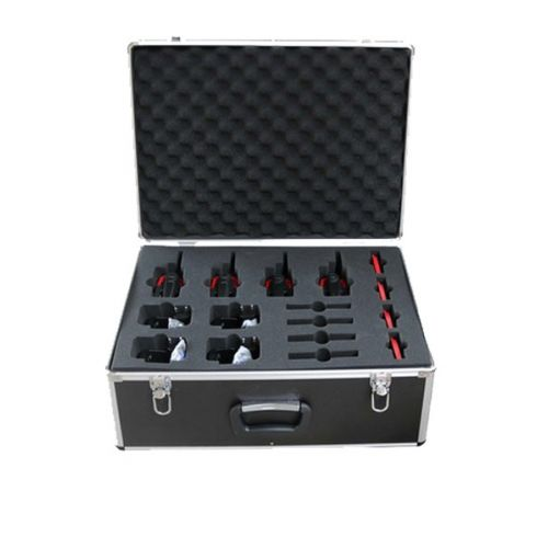 Aluminium koffer voor 8 stuks Kenwood TK-3601 met lader