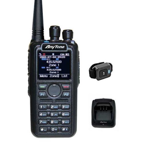 Anytone AT-D878UV PLUS V2.2 Bluetooth, GPS, APRS, Roaming 7Watt IP54 GRATIS prog kabel