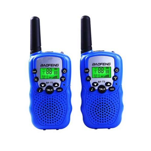 Set van 2 stuks Baofeng BF-T3 PMR446 Walkie Talkie Blauw