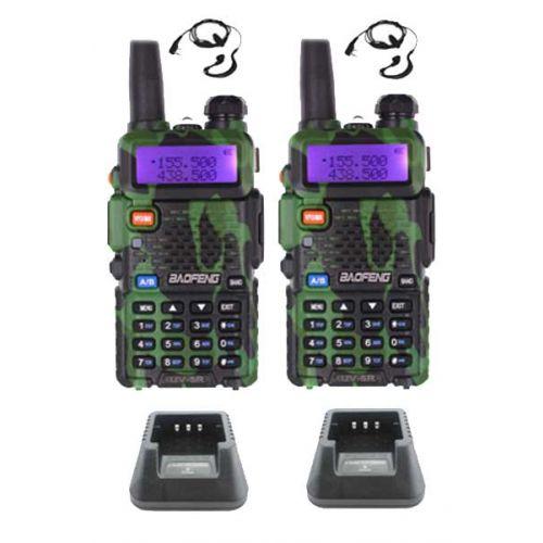 Set van 2 Baofeng UV-5R Camouflage Dualband 5Watt portofoons