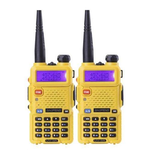 Baofeng UV-5R Geel Dualband 5Watt set