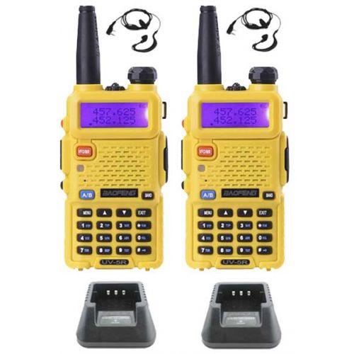 Set van 2 Baofeng UV-5R Geel Dualband 5Watt portofoons OP=OP