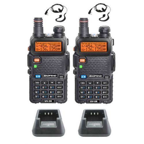 Set van 2 Baofeng UV-5R Dualband 5Watt portofoons