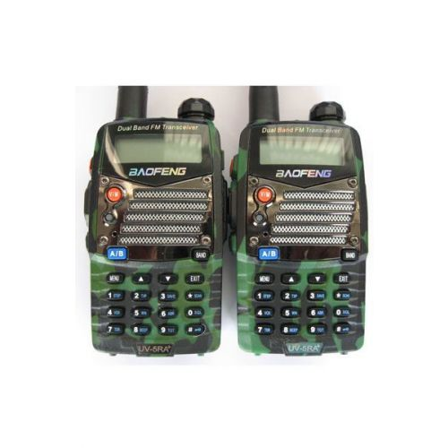 Baofeng UV-5RA Plus Camouflage Dualband 5Watt set