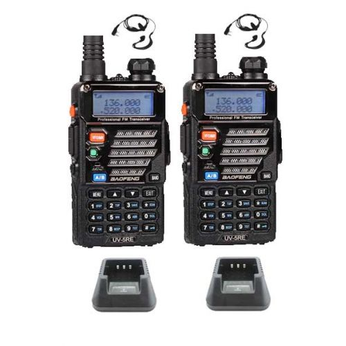 Set van 2 Baofeng UV-5RE Plus Dualband 5Watt Portofoons