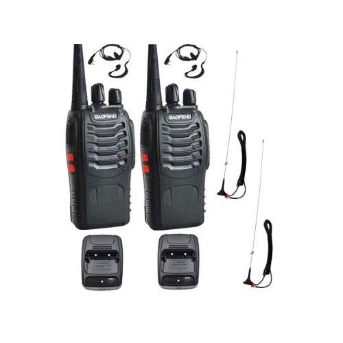 Set van 2 portofoons met Auto antennes Baofeng vakantieset