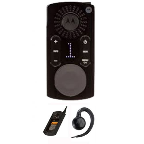 Motorola CLK446 Mini Portofoon met display, headset en tafel lader