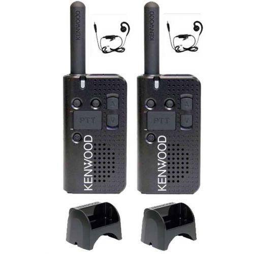 Set van 2 stuks Kenwood PKT-23E IP54 met KHS-34 headsets en laders