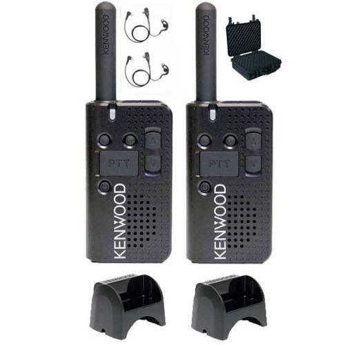 Kenwood PKT-23E Sportpakket met ECH1040-K4 headsets, koffer en laders