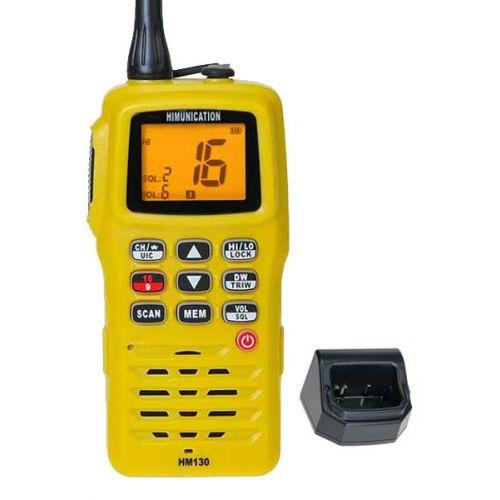 Himunication HM130 Hand Marifoon Geel IP67,  ATIS en Kanaal 31