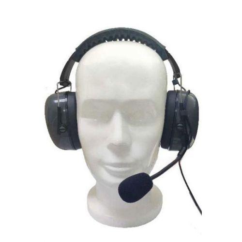 Huismerk CH-3 Hoofdband headset met boom microfoon en PTT M1 2-Pins aansluiting