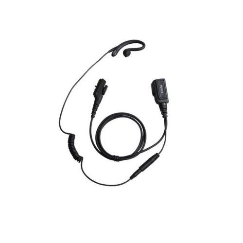 Hytera EHN16 Headset met C-hook en PTT voor PD-7xx