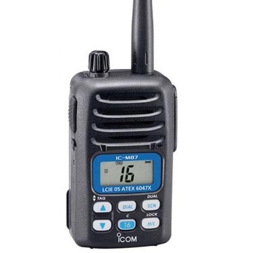 Icom IC-M87 ATEX Hand Marifoon IPX7 met ATIS en PMR