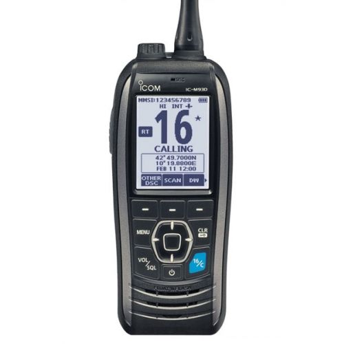Icom IC-M93D Hand Marifoon IPX7 ATIS, DSC & GNSS