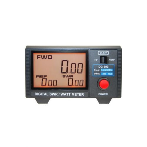 K-PO DG-503N Digitale Swr / Power meter 1.6 - 525 Mhz