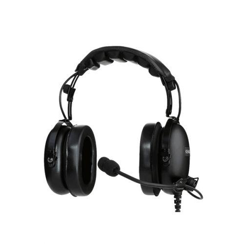 Kenwood KHS-10D-OH heavy duty headset met microfoon en PTT 2-Pins K1 K-Type