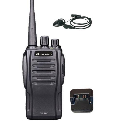 Midland G10 Pro UHF PMR446 Portofoon met D-shape oortje