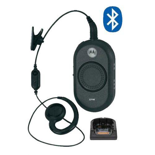 Motorola CLP446 Bluetooth mini portofoon met headset en tafel lader