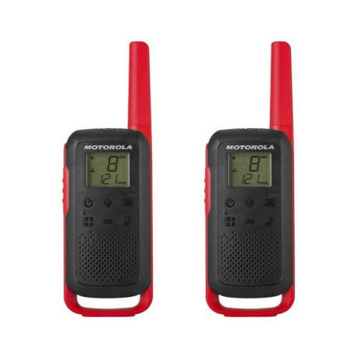 Set van 2 stuks Motorola Talkabout T62 Rode PMR446 Portofoons