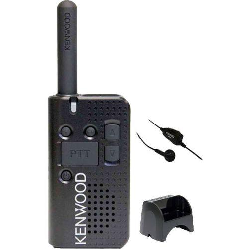 Kenwood PKT-23E IP54 Mini Portofoon met KHS-33 headset en tafel lader