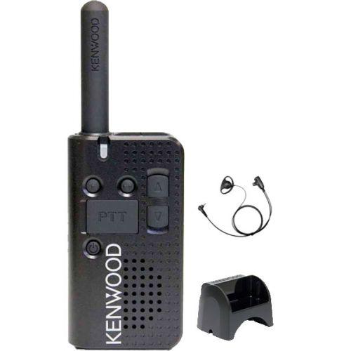 Kenwood PKT-23E Mini Portofoon met DCH1040-K4 D-shape oortje en tafellader