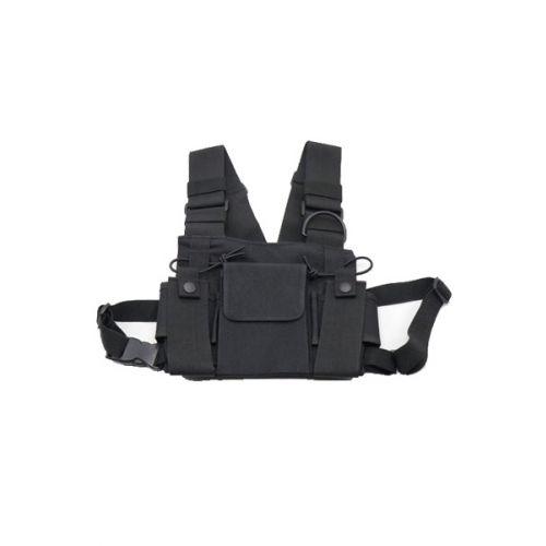 Portofoon harnas borst draagtas universeel heavy duty voor 2 portofoons