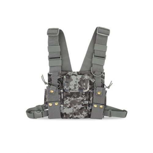 Portofoon harnas borst draagtas universeel heavy duty camouflage
