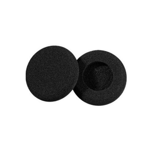 Zwarte foam caps voor standaard oortjes