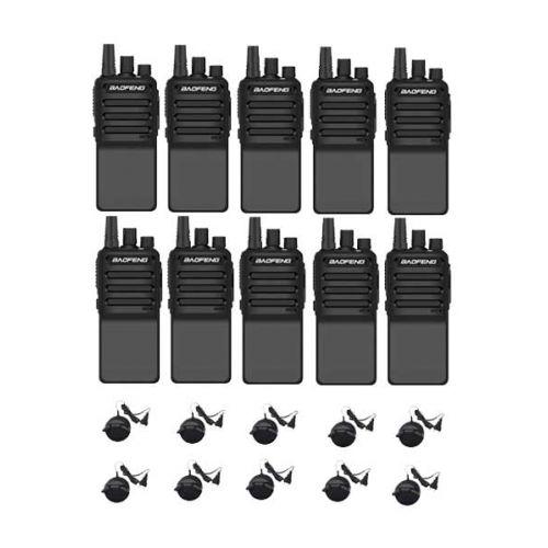 Set van 10 Baofeng C2 UHF 5Watt portofoons