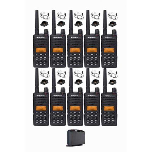 Set van 10 Motorola XT660D IP54 Digitale PMR446 met koffer, beveiliging headset en tafellader