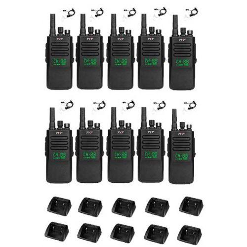 Set van 10 stuks TYTERA MD-680D DMR portofoons met display en beveiliging oortje