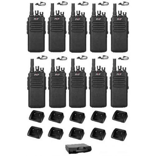 Set van 10 stuks TYTERA MD-680 portofoons met D-shape oortje en koffer