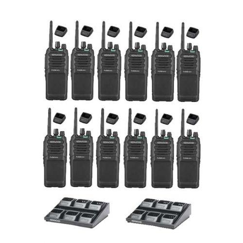 Set van 12 Kenwood TK-3701D IP55 Portofoon met multilader