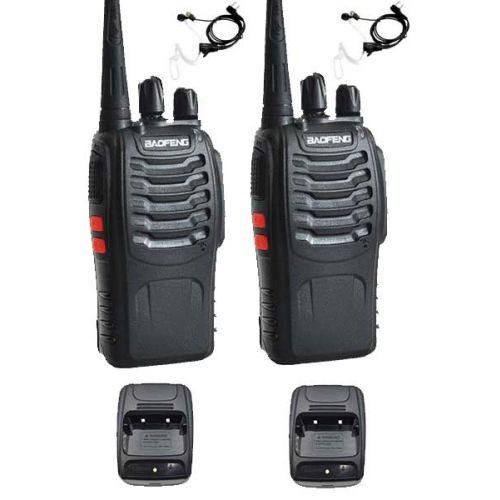 Set van 2 Baofeng BF-888s UHF 5Watt Portofoons met beveiliging headsets