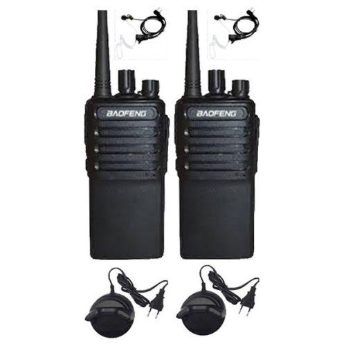 Set van 2 Baofeng C2 UHF 5Watt portofoons met beveiliging oortjes