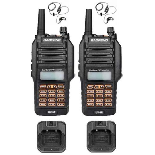 Set van 2 Baofeng UV-9R Dualband VHF en UHF Portofoons IP67 Waterdicht 5Watt