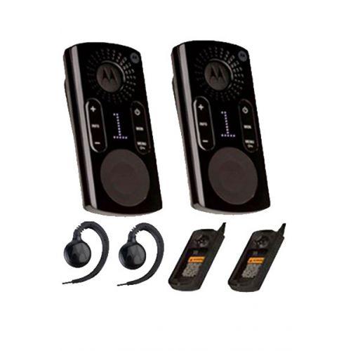 Set van 2 Motorola CLK446 Pro Plus 1watt met display headset en tafel laders