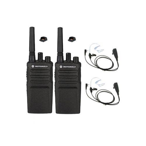 Set van 2 Motorola XT420 UHF IP55 PMR446 met laders en beveiliging oortje M1