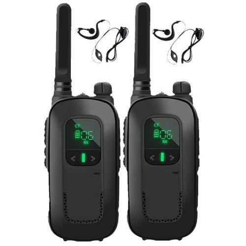 Set van 2 stuks Baofeng BF-T12 mini portofoons Zwart met accu