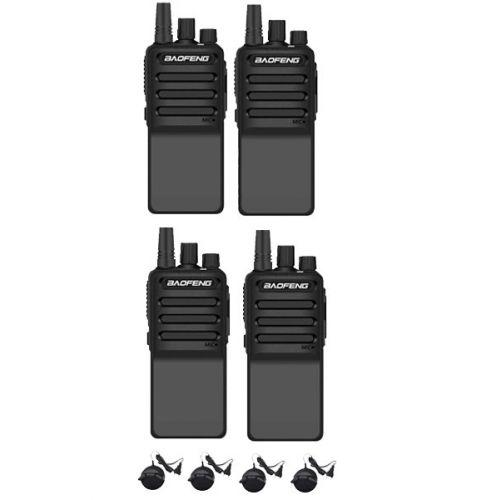 Set van 4 Baofeng C2 UHF 5Watt portofoons