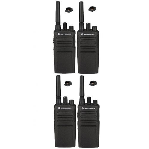 Set van 4 Motorola XT420 UHF IP55 PMR446 Portofoon met laders